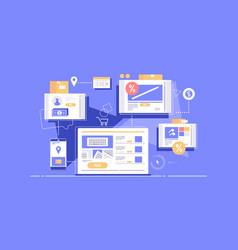 internet ordering goods vector image