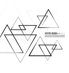 Intersecting triangles pattern vector