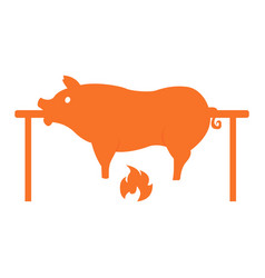 Isolated cooked pork vector