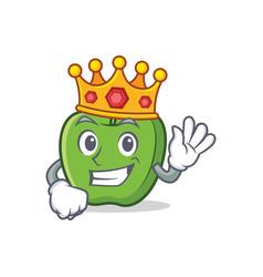 King green apple character cartoon vector
