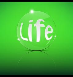 Life Focus Convex Len vector image