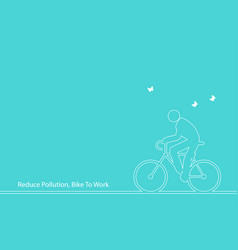 line art of iconic figure riding bicycle vector image