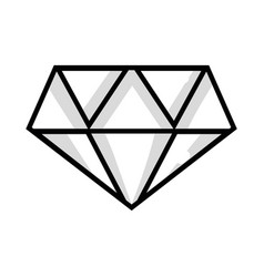 Line cute diamond elegant accessory design vector