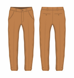 Mens brown trousers vector