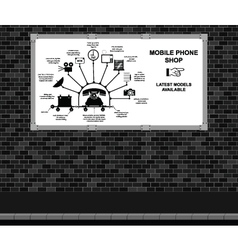 Mobile Phone Shop Advertising board vector