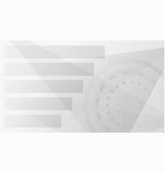 Modern futuristic background tech style grey vector