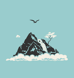 mountain landscape symbol vector image