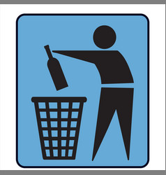 No litter or separately recycle bin sign vector