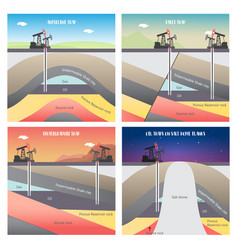 Oil and gas traps vector