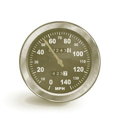Old rusty speedo meter vector