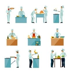 People Cooking Set vector