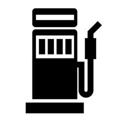 petrol pump flat on white vector image