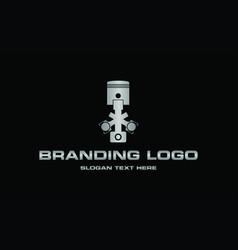 piston metallic engine repair industrial logo vector image