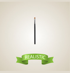 Realistic eye paintbrush element vector