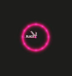 Red alarm clock concept - black friday sale vector