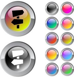 Road arrows multicolor round button vector image
