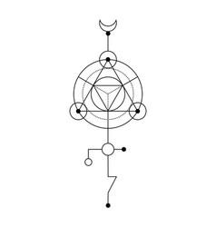Sacred geometry abstract mystic signs merkaba vector