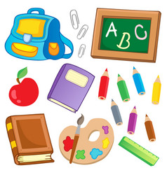 school drawings collection 2 vector image