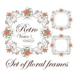 Set of floral frames vector image