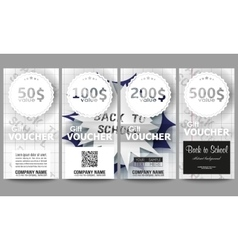 Set of modern gift voucher templates Back to vector image