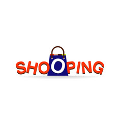 shopping logo type design symbol vector image