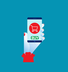 smartphone online shopping concept shopping vector image
