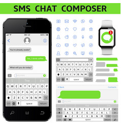 Sms chat composer vector