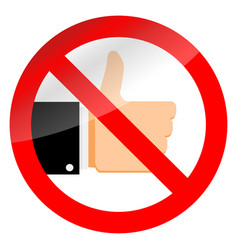 stop like sign and ban social media vector image