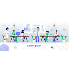Team doctors and nurses landing web page banner vector