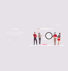 team - modern flat design style colorful banner vector image