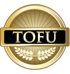 Tofu gold icon vector