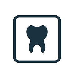 Tooth icon Rounded squares button vector