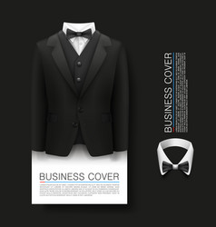 Tuxedo cover background complimentary ticket vector