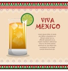 viva mexico poster celebration vector image