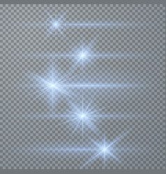White glowing light burst explosion vector