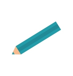 Wooden colored pencil vector