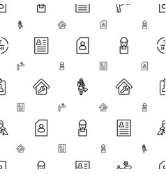 Worker icons pattern seamless white background vector