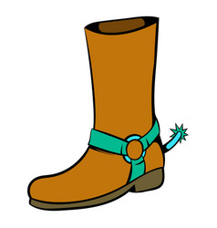 cowboy boot icon icon cartoon vector image