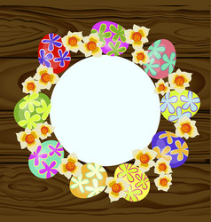 set of colorful easter eggs vector image