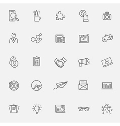 Thin line icons set Icons for business vector image vector image
