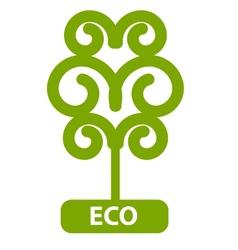 Eco Tree Isolated On White Background vector image