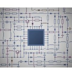 Electrical Circuit diagram vector image