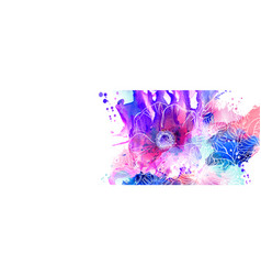 hand drawn floral abstract vector image