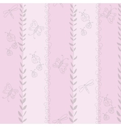 seamless pattern for girl Hand vector image vector image