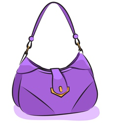 Womens purple handbag vector image vector image