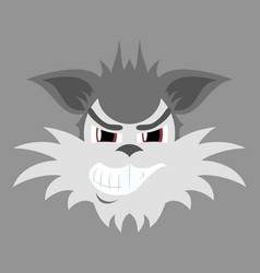 Flat icon on theme evil animal coyote vector