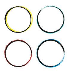 set of grunge circles grunge round shapes vector image