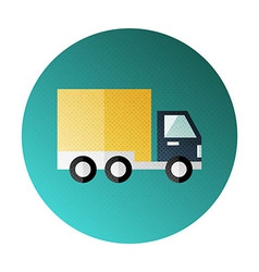 Shipping and delivery halftone circle icon vector image