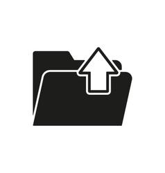 The folder icon Download symbol Flat vector image