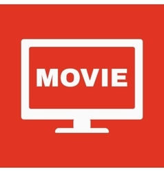 The movie icon Television and tv cinema film vector image vector image
